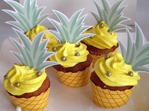 cupcakes frutas abacaxi