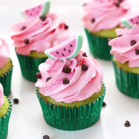 cupcakes frutas melancia tropical