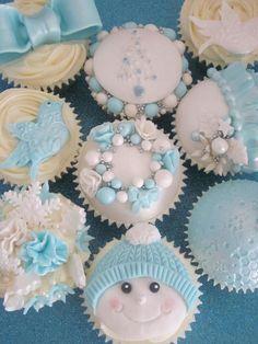 cupcakes natal azul