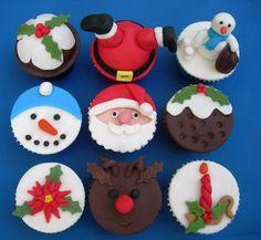 cupcakes natal diferentes