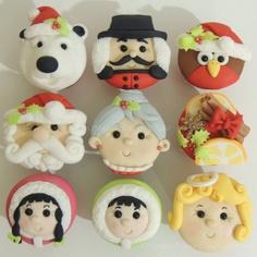 cupcakes para o natal