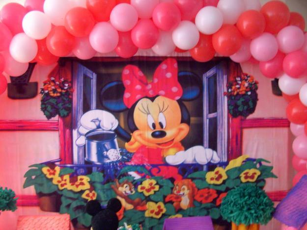 decoraçao baloes minnie
