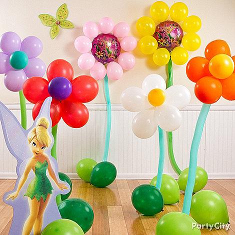 decoraçao de baloes para festa sininho