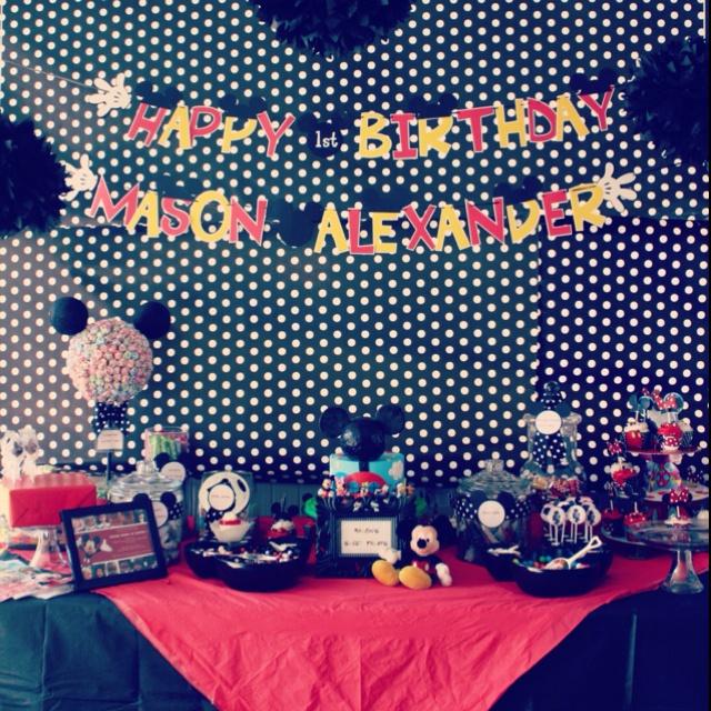 decoraçao festa infantil mickey