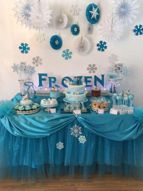 decoraçao festa frozen
