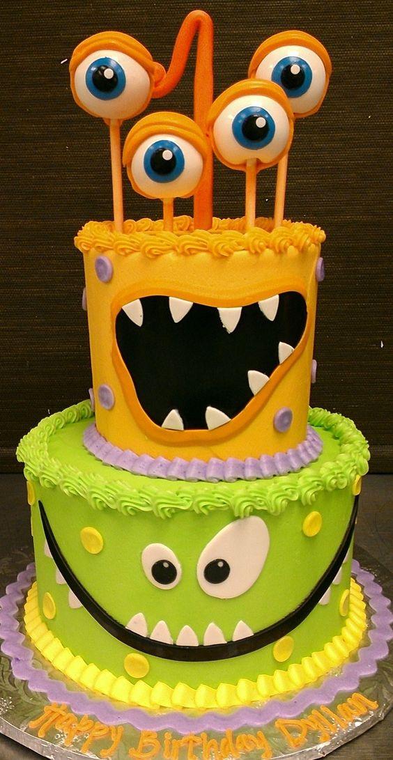 decoracao bolos festa monstrinhos 11