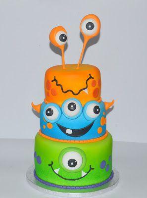 decoracao bolos festa monstrinhos 12
