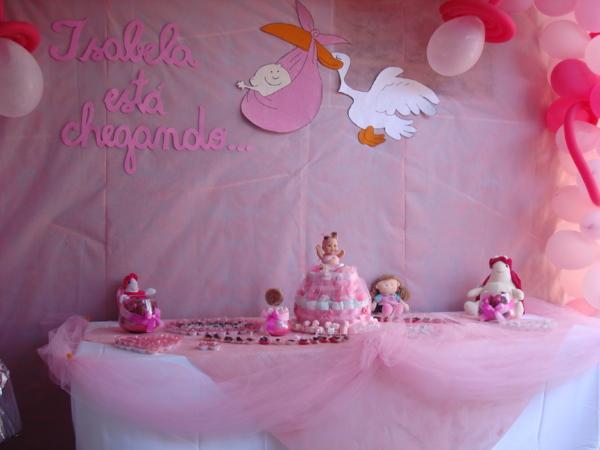 decoracao cha bebe menina rosa