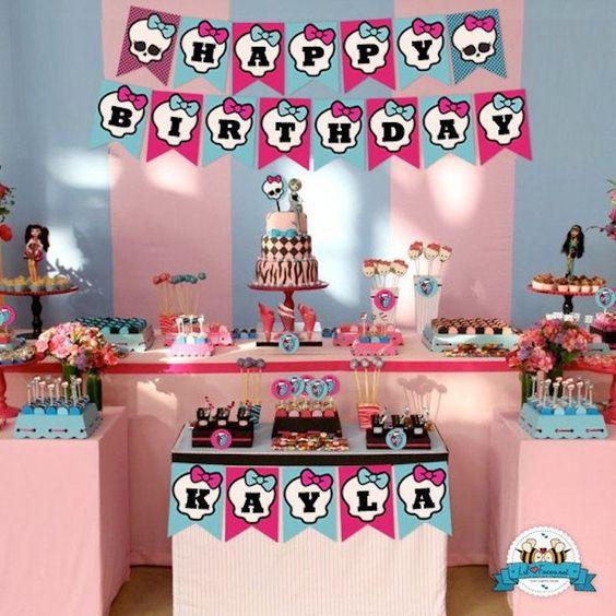 decoracao festa Monster High 3