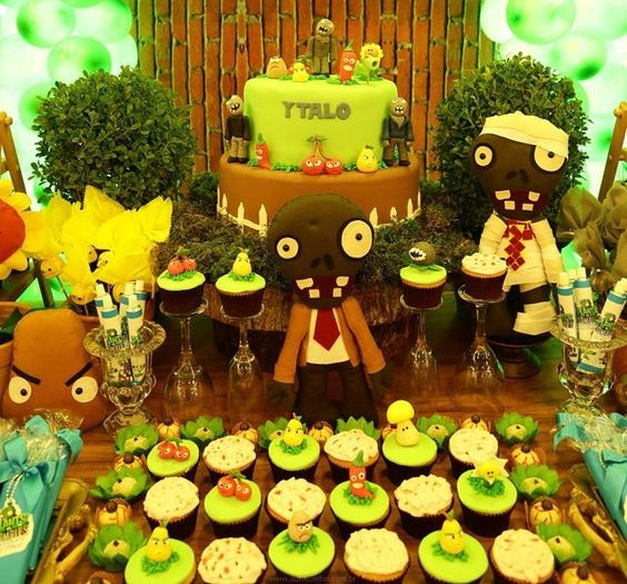 decoracao festa Plants vs Zombies