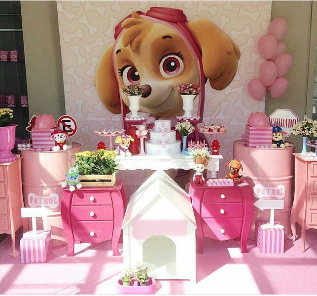 decoracao festa Skye Patrulha Canina