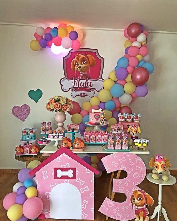 decoracao festa Skye baloes