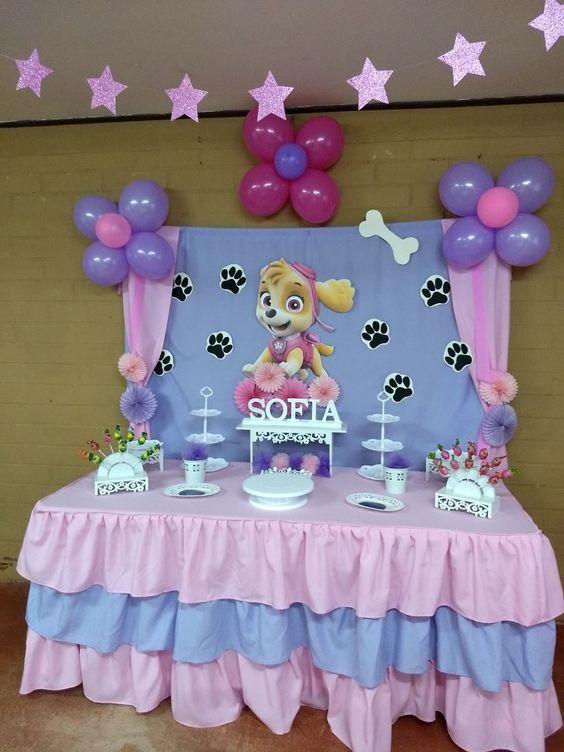 decoracao festa Skye painel