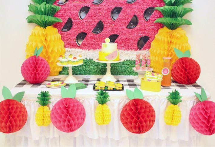 decoracao festa Tutti Frutti