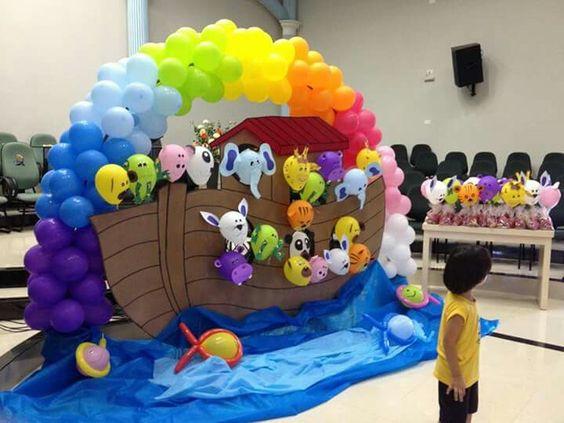 decoracao festa arca noe 7