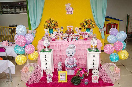 decoracao festa baby alive