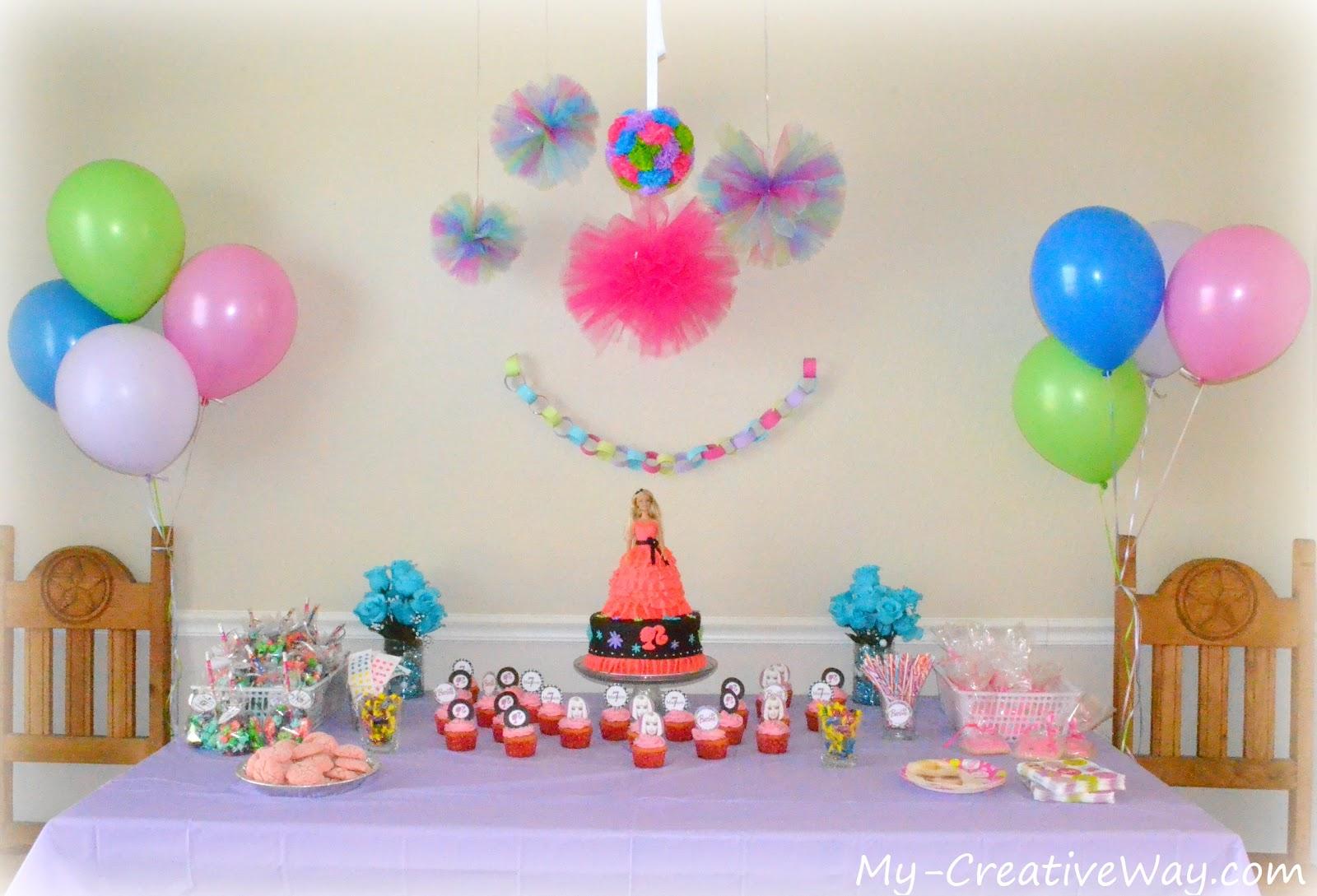 decoracao festa barbie