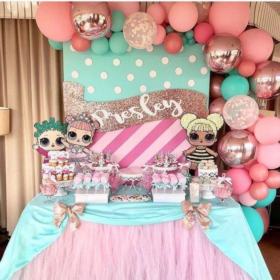 decoracao festa boneca Lol