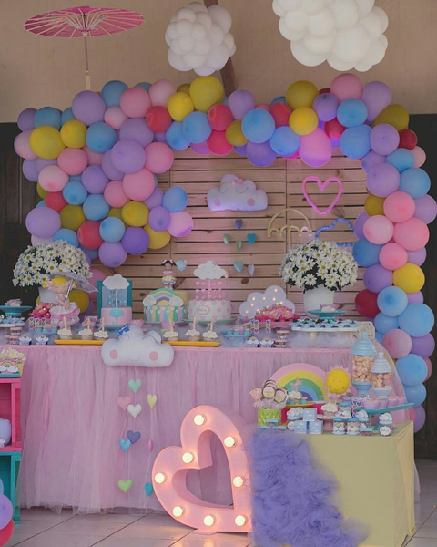 decoracao festa chuva amor 1