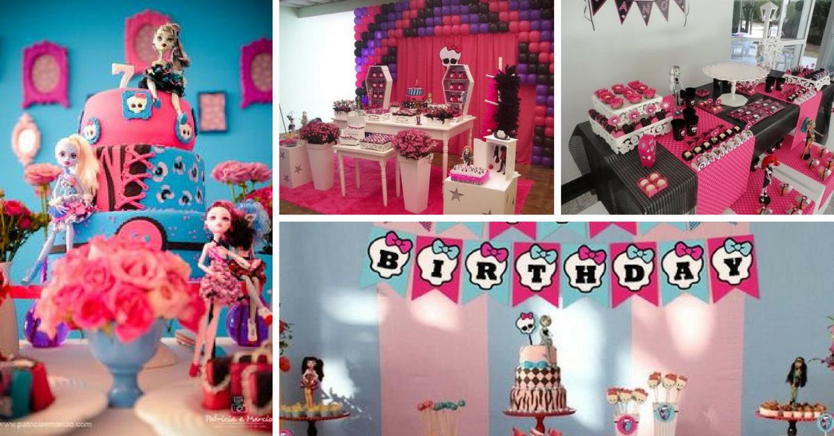10+ Ideias Originais de Decoração de festa Monster High