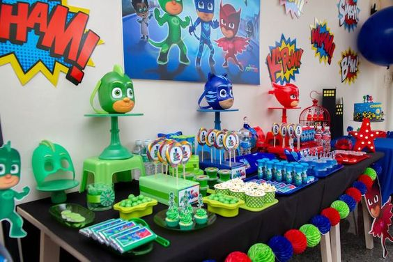 decoracao festa pj masks 3
