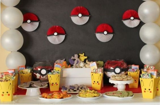 decoracao festa pokemon