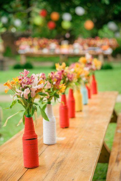 decoracao festa primavera centro mesa