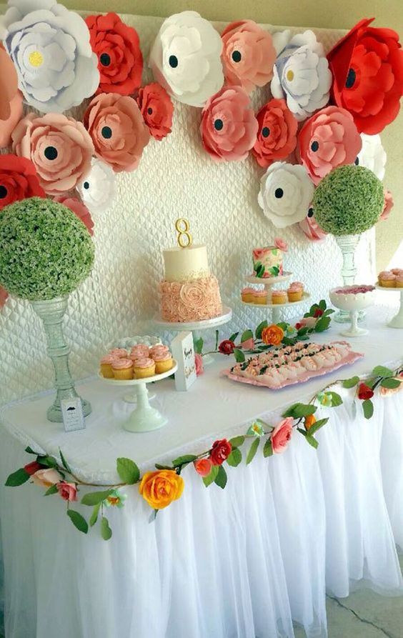 decoracao festa primavera flores