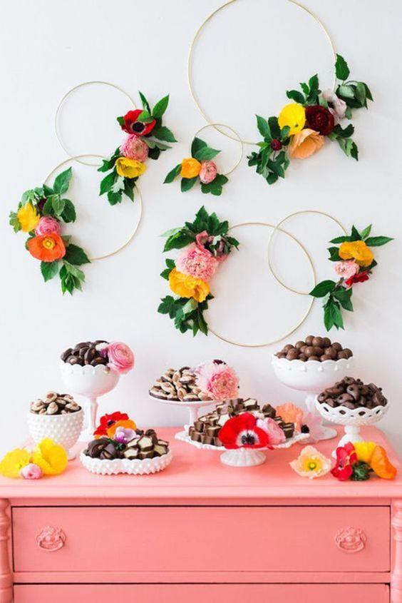 decoracao festa primavera painel arcos