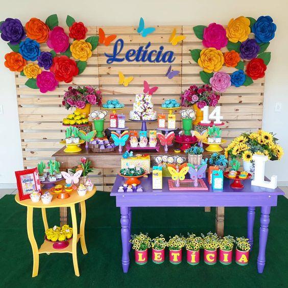 decoracao festa primavera painel