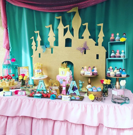 decoracao festa princesa nella simples