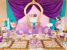decoracao festa princesa nella