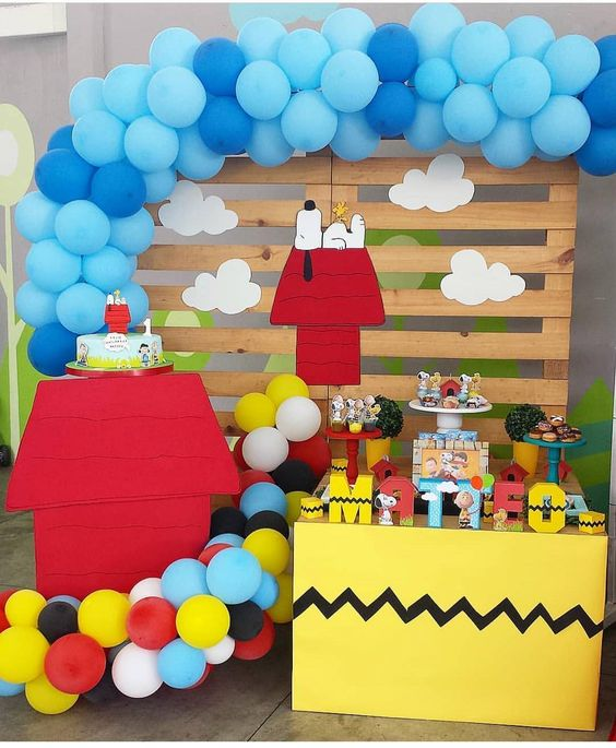 decoracao festa snoopy baloes