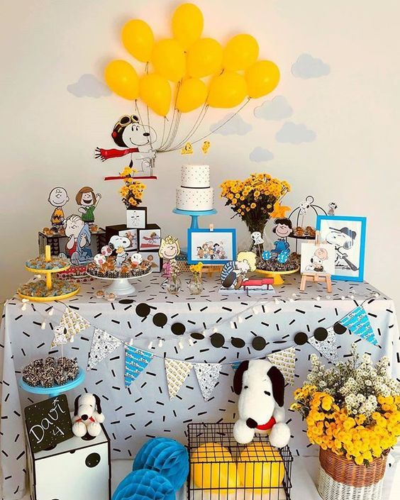 decoracao festa snoopy