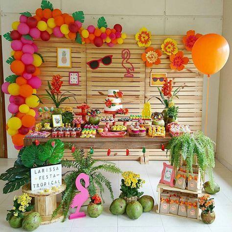 decoracao festa tropical 1