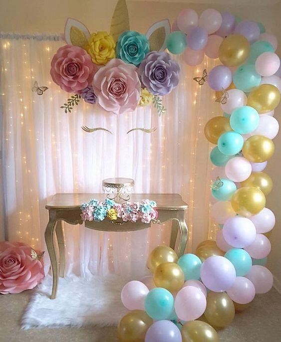 decoracao festa unicornio baloes