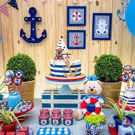 decoracao festa ursinho marinheiro 1
