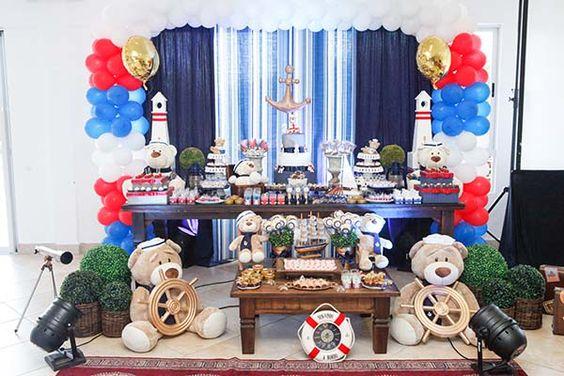 decoracao festa ursinho marinheiro 2