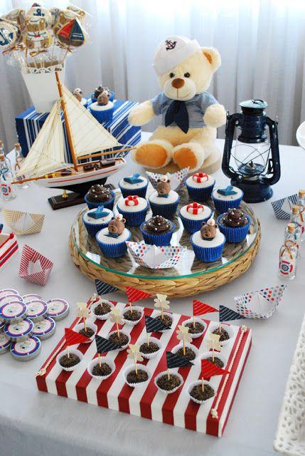 decoracao festa ursinho marinheiro