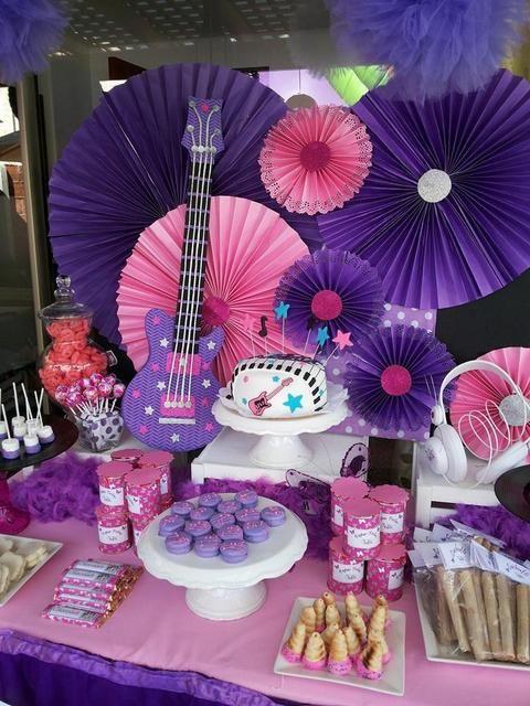 decoracao festa violetta