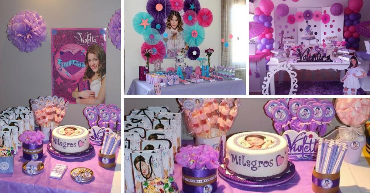 10+ Ideias de Decoração para Festa Violetta