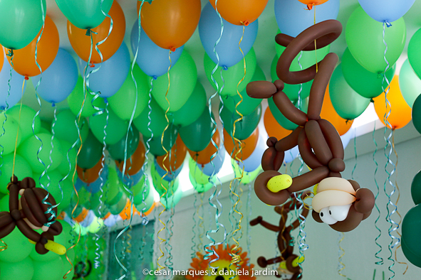 decoracao selva bexigas