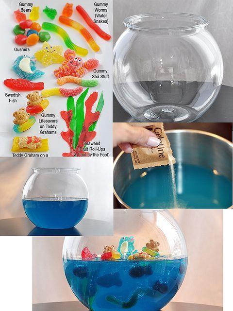 diy aquario gelatina bala goma