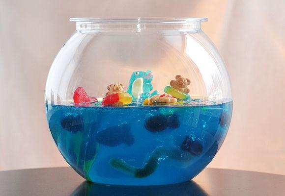 diy aquario gelatina festa infantil