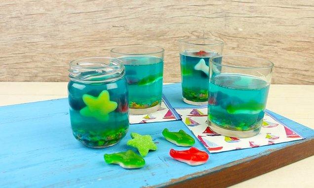 diy aquario gelatina individual
