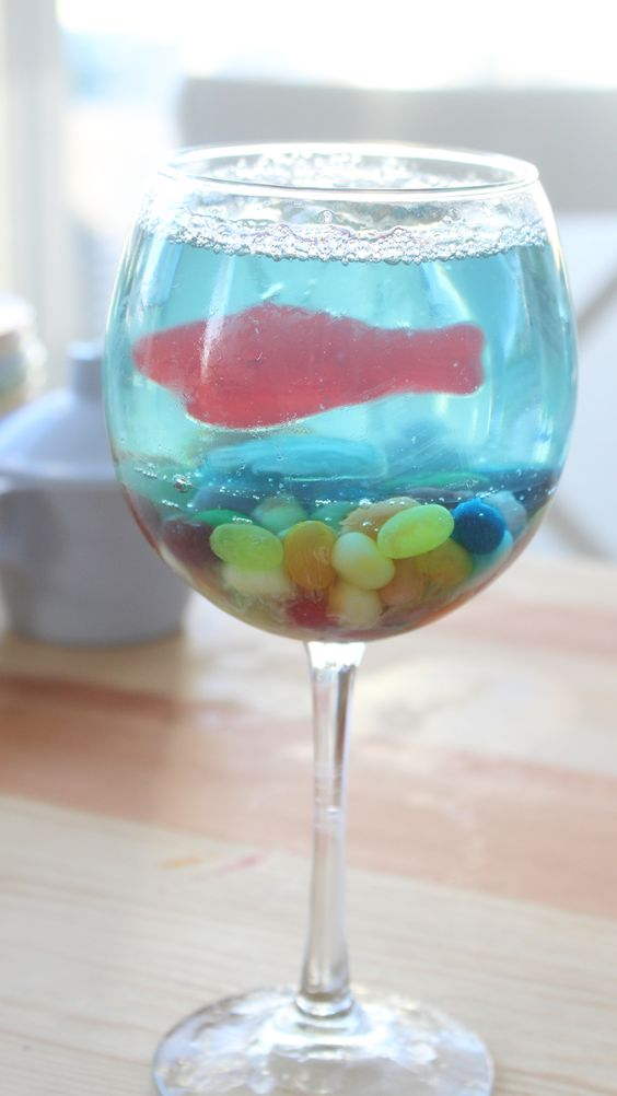 diy aquario gelatina taca