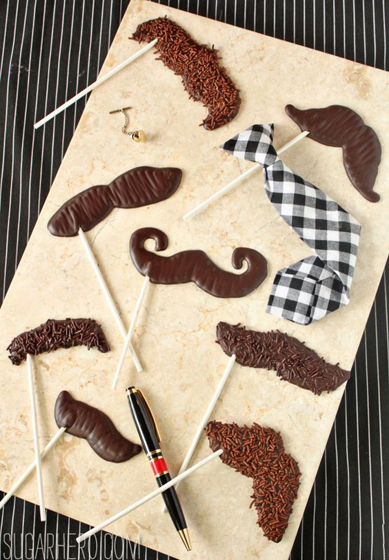 diy bigodes de chocolate