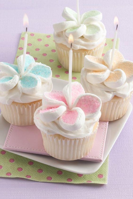 diy flor marshmallow ideias