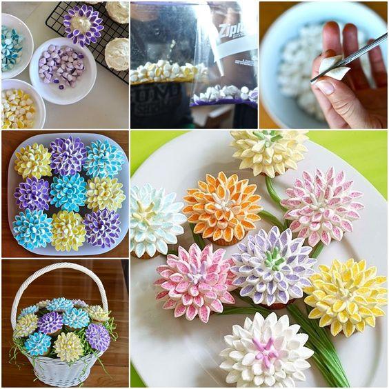 diy flor marshmallow