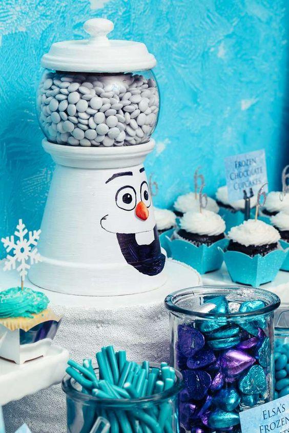 diy ideias para festa aniversario frozen